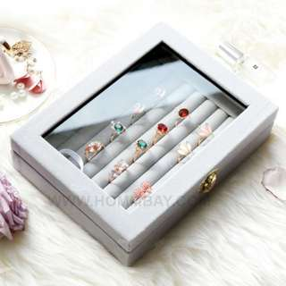 Jewellery Jewelleries Rings Earrings Bracelets Cufflinks Organizers Storage Box
