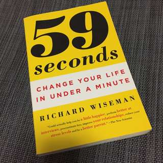 9 Seconds : Change Your Life in under a Minute [Paperback] by Wiseman, Richard