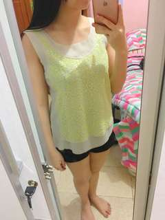 Lime blink top