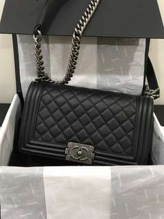 Chanel Boy Old Medium Calfskin RHW