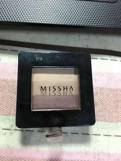 🚚 Missha 三色眼影(#12)