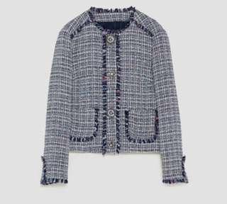 ZARA Tweed Jacket with bejewelled