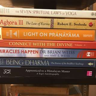 Spiritual - deepak chopra, svoboda karma, bks Iyengar, Brian Weiss, being dharma ajahn Chan, Sri m apprenticed to a Himalayan maser