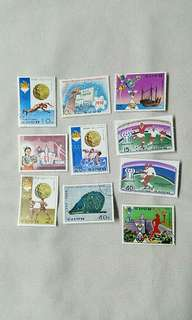 超極罕!北韓郵票10個(中大型)