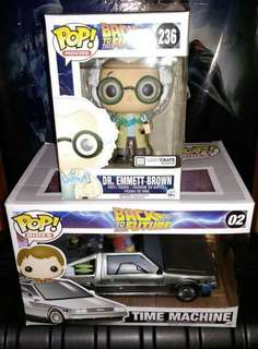 [PRE-ORDER] Time Machine DeLorean & Doc Emmett Brown Back to the Future Funko Pop Bundle