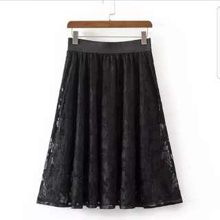 Plus size Lace Skirt