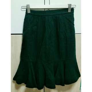 Green sexy skirt