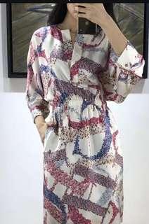 Carolina Herrera Kimono Cinch Waist Dress