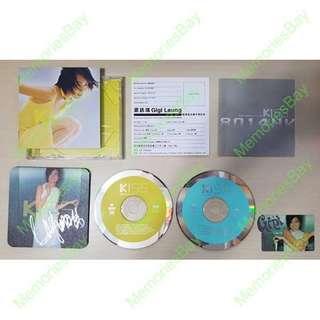 舊版CD 梁詠琪 Kiss 新曲+精選 (首批附送簽名滑鼠墊) - 至死不遇 某年仲夏 愛自己 一天一天 I'll be loving you 迫不得已 Today 身不由已 VCD 絕版唱片 音樂光盤 香港 歌手 廣東歌 懷舊回憶 GiGi Leung