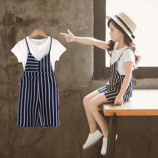 Girls Cotton and Linen Two-Piece
