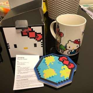 Nanoblock Hello Kitty Mug with Coaster 瓷杯連杯墊