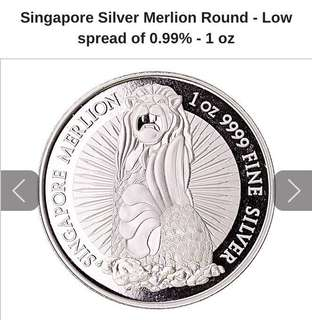 Singapore Silver Merlion