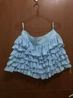 Mini skirt blue