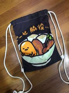 Gudetama Drawstring Bag