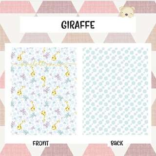 🚚 BABY BLANKET Personalised customised gift present fleece minky newborn giraffe