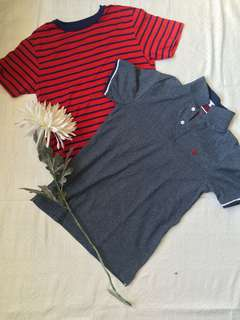 GIORDANO polo & OLD NAVY shirt