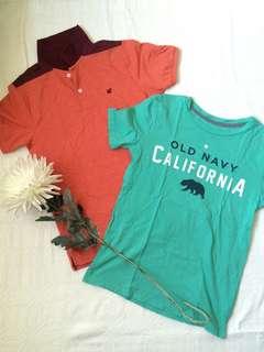 GIORDANO polo & OLD NAVY shirt