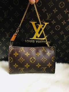 Authentic Vintage Louis Vuitton Accessories Pouch Monogram Leather