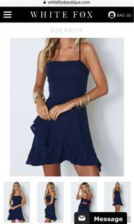 White Fox Boutique Navy Dress