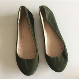 Green Army Flat shoes