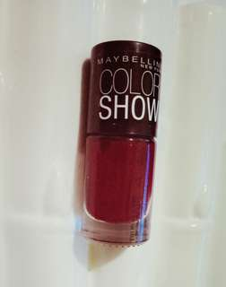maybelline (nail warna downtown red 216)
