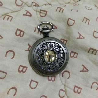 ❌復古金銅浮雕懷錶吊飾