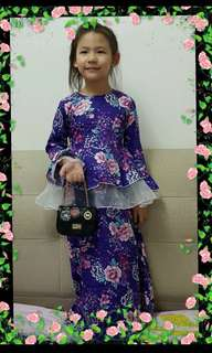 PEPLUM DRESS PURPLE ~READY SYOK~