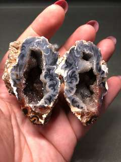 Mini Agate Geode thunder eggs 迷你雷公蛋