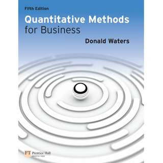 Quantitative Methods for Business 5th Fifth Edition by Donald Waters - Pearson