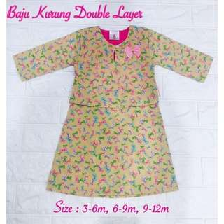 Baju Kurung Double layer (ON SALE)
