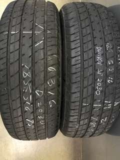 185/55/16 dunlop sport 2pc used tyre 75% tread 1pc $45pc