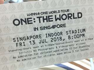 [WTS] Wanna One Concert Cat 1 Pen C Physical Tickets