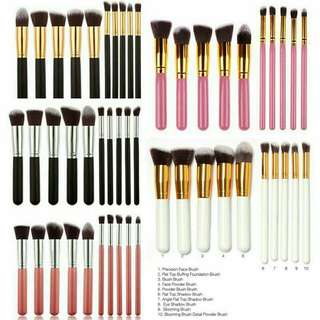 10pcs Kabuki Proffesional Brush Set