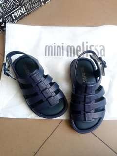 Authentic mini melissa flox navy blue size 5