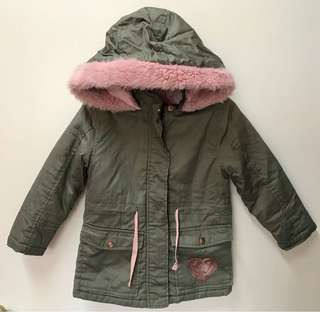 SISTA Khaki/Pink Winter Coat