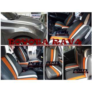 TOYOTA RAV4 High quality Factory Fit Customized Leather CAR SEAT COVER