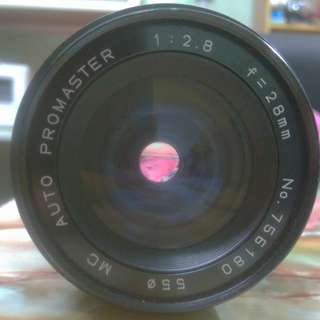 Promaster 28mm f2.8 macro manual focus m42 macro lens made in Japan for Canon Sony, Panasonic, Fuji, Olympus, Pentax, Leica super rare 28 2.8