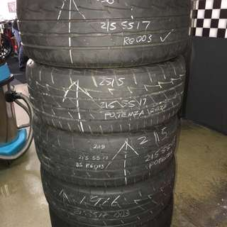 215/55/17 bs potenza used tyre 1pc $40