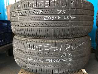 225/55/18 goodyear 2pc used tyre 75% tread 1pc $50