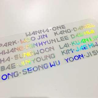 Wannaone hologram sticker現貨