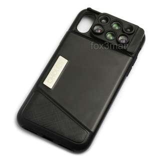 iPhone  X專用6合1攝影鏡頭手機殼 魚眼 廣角 微距 遠攝