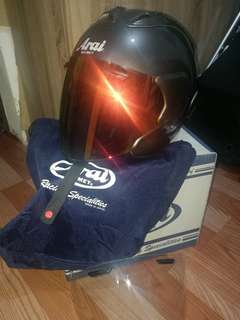 Helmet Arai MZF Dark Silver Copy Ori Like New