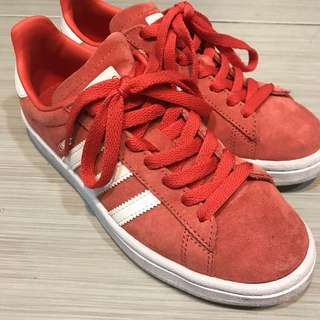 Adidas campus橘紅色