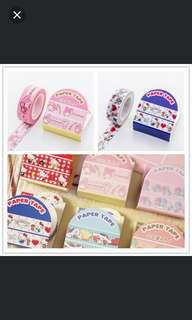 🚚 (全新) 日本 三麗鷗 Melody 美樂蒂 Hello Kitty 凱蒂貓 紙膠帶 貼紙相冊手賬本日記簿裝飾