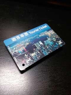 早期 MTR 遊客車票 - 香港之夜