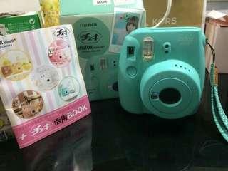 🌸FUJIFILM Instax Mini  8 Instant Camera (Mint) + Fuji White Edge Instant 10 Film