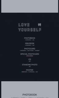 BTS Love Yourself: Tear Unsealed Albums