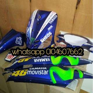 COVERSET CUSTOM AIRBRUSH MOVISTAR YAMAHA EGO(first model)