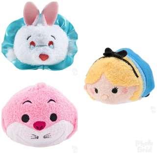 🔆預訂🔆迪士尼 disney tsum tsum 愛麗絲 Alice 妙妙貓 Cheshire Cat 白兔先生 White Rabbit 公仔  細版