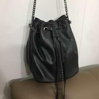 Preloved zara inspired studded bucket bag